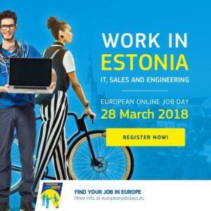 """Online töömess """"IT, sales and engineering - Work In Estonia"""""""